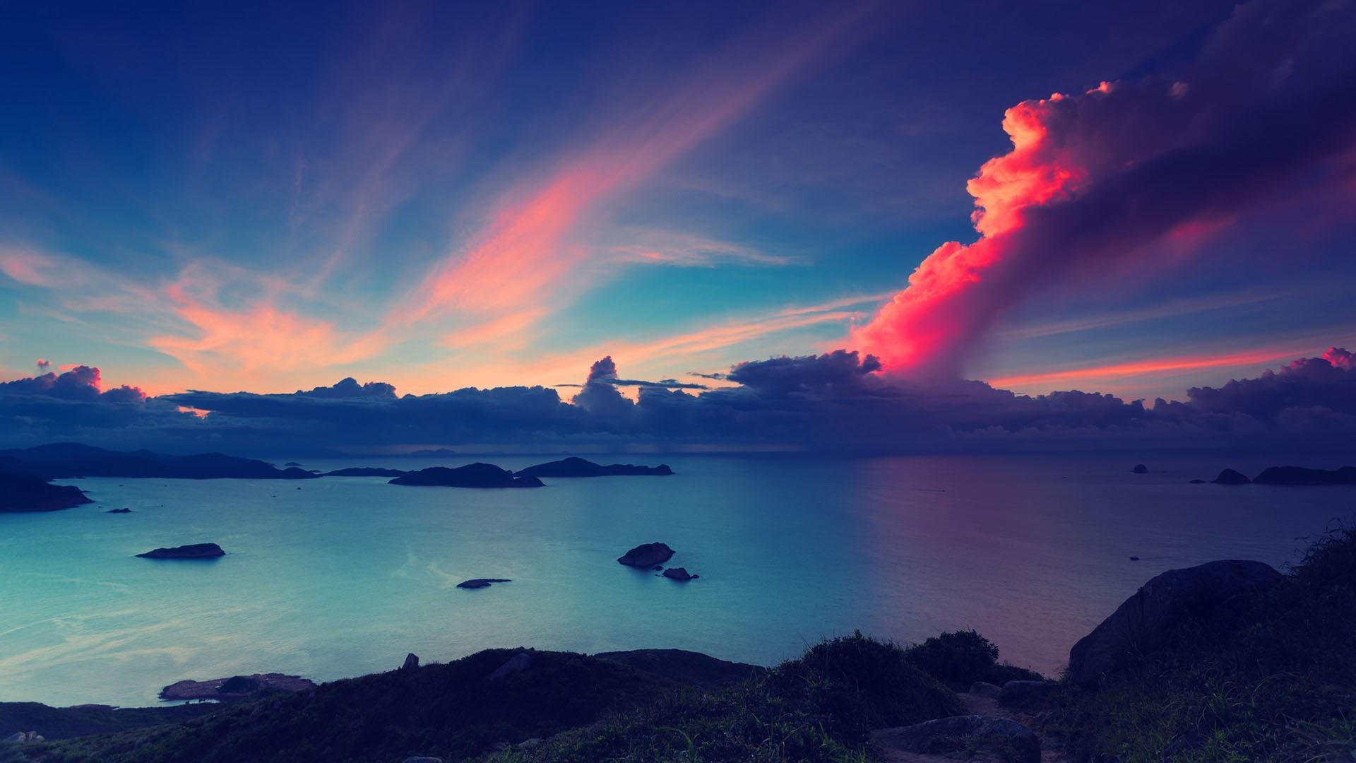 唯美湖泊风景摄影高清宽屏桌面壁纸