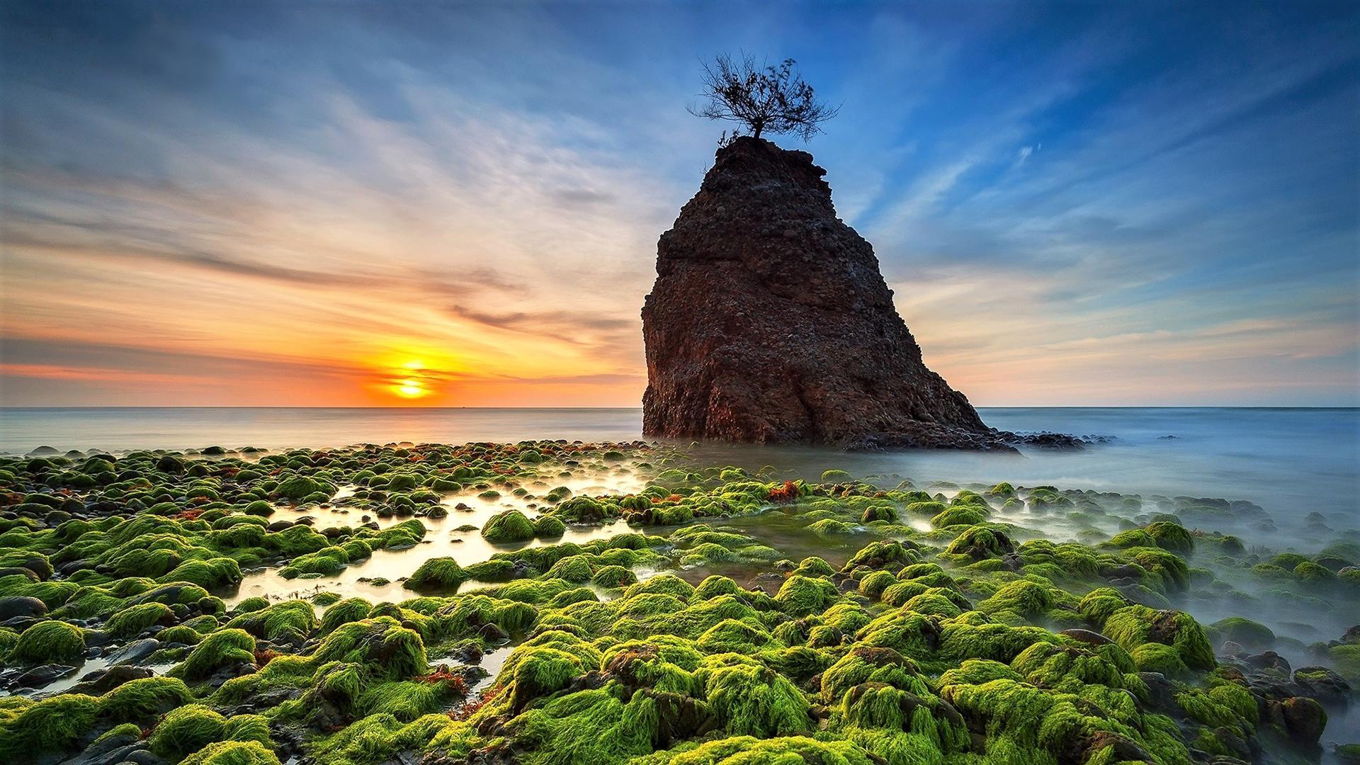 唯美日出日落风景图片高清宽屏壁纸_图片新闻_东方头条