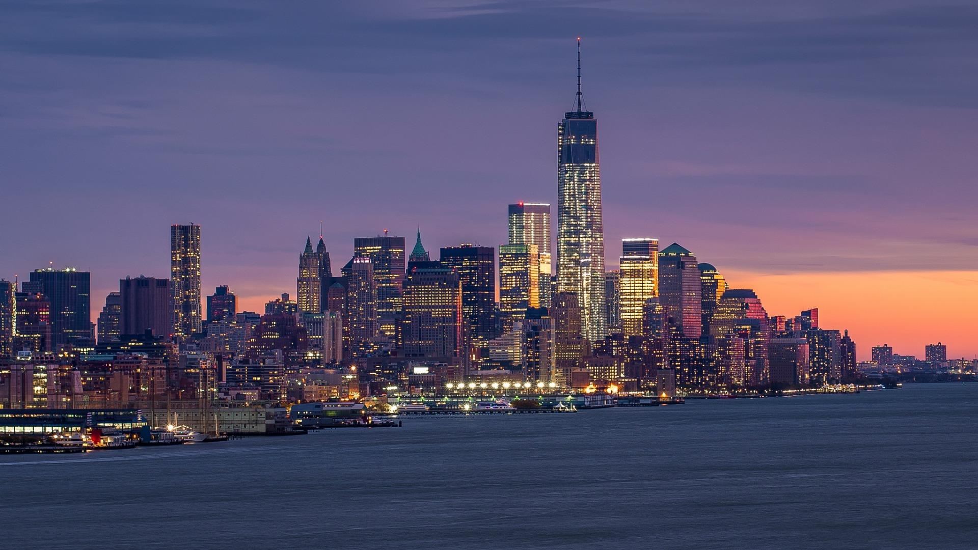 宏伟壮观的城市建筑风景高清宽屏壁纸