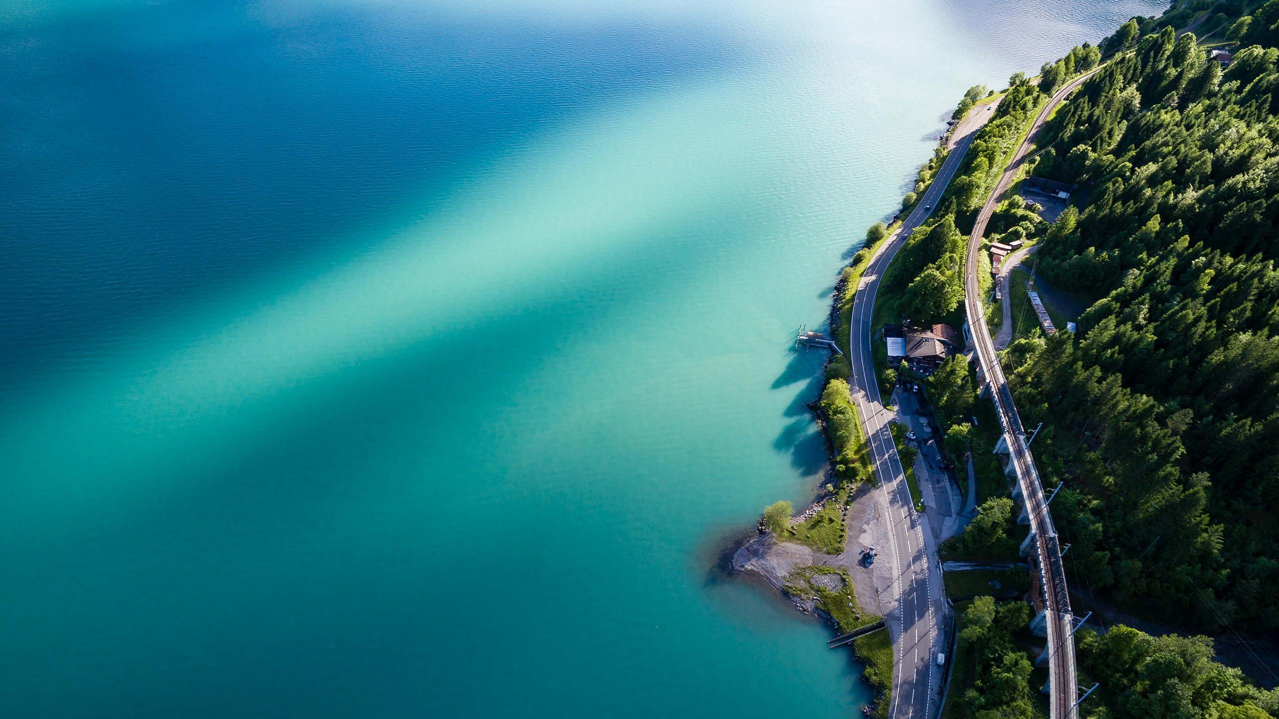 海岸风景航拍摄影高清宽屏壁纸