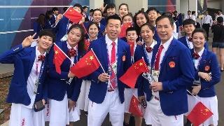 高清:中国女篮开幕式场外合影 服装打几分?