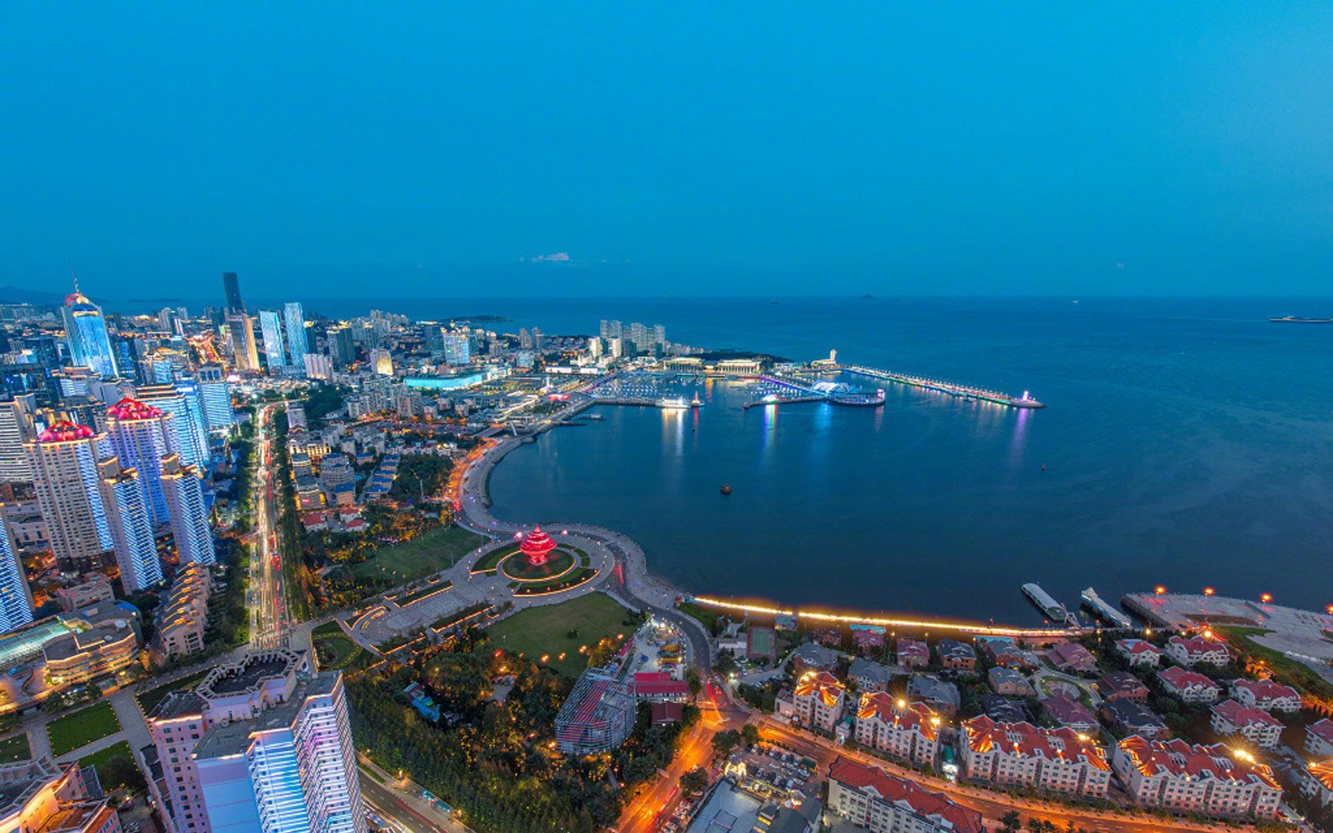 山东青岛建筑风景图片桌面壁纸