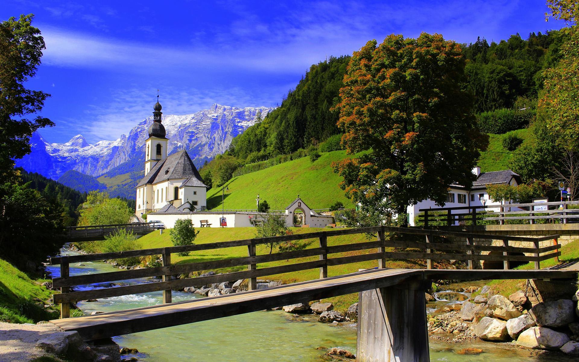 欧洲小镇唯美风景图片桌面壁纸