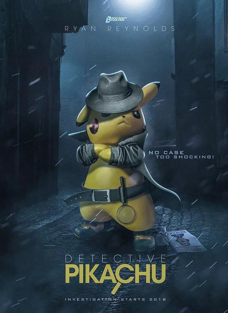 电影《精灵宝可梦:大侦探皮卡丘》海报图片