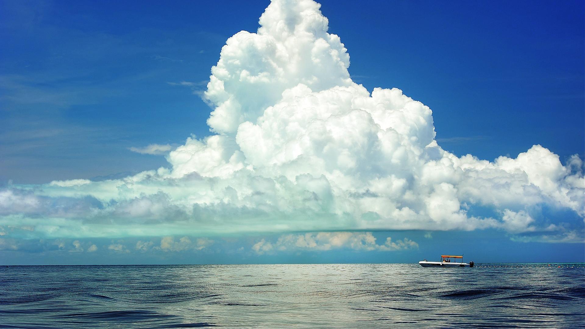 清新唯美蓝天白云风景桌面壁纸