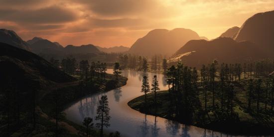 秀丽山水之间风景桌面壁纸