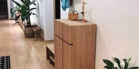 矮鞋柜+换鞋凳,小玄关就这样利用!