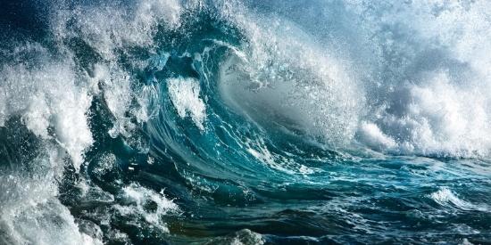波涛汹涌动人心魄的海浪图片