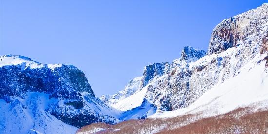 唯美长白山雪景高清桌面壁纸