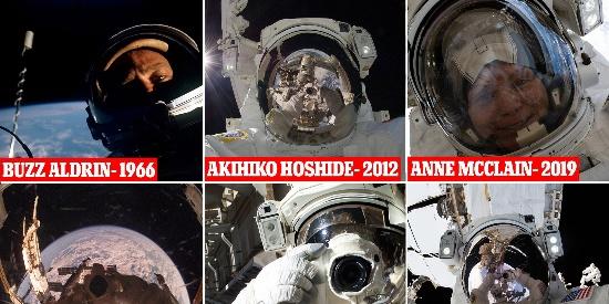 NASA盘点宇航员太空自拍照 景象引人注目