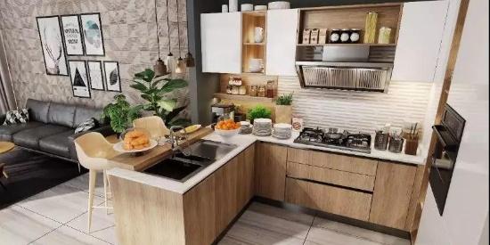 不挑户型的厨房设计,把4㎡装成10㎡!