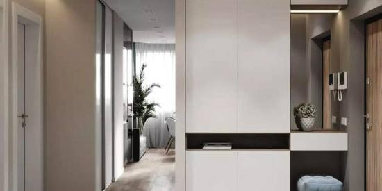 门厅鞋柜+衣柜的设计,实用又上档次!