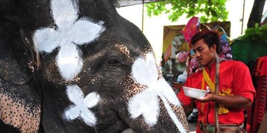 泰国举行庆祝活动 迎接泰历新年\