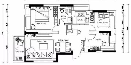87㎡的家挤出3室2厅,沙发不靠墙让家变大一倍