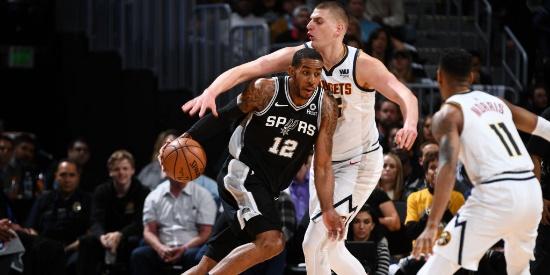 NBA季后赛首轮:马刺-掘金G2