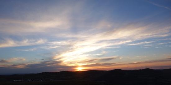 彩云满天的晚霞高清唯美风景摄影图片