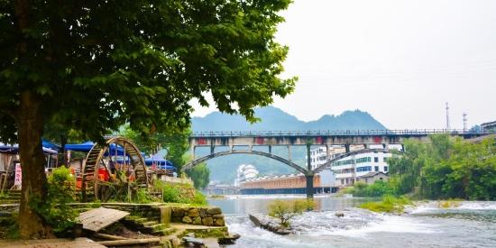 江西省省级自然保护区瑶里古镇自然风景摄影图片