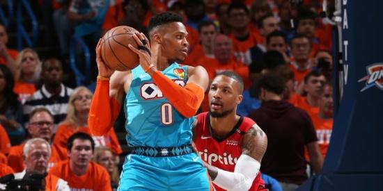 NBA季后赛首轮:开拓者VS雷霆G3
