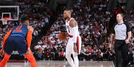NBA季后赛首轮:雷霆VS开拓者