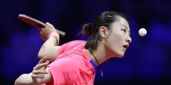 世乒赛女单 丁宁获胜晋级32强