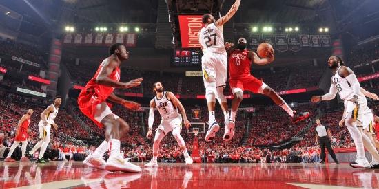 NBA季后赛首轮:爵士-火箭G5