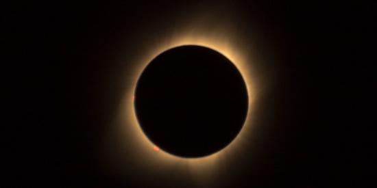 日食的特写图片