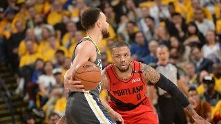 NBA季后赛西部决赛:开拓者-勇士G2