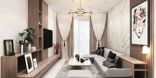时尚大气现代风格两室两卫,装修设计很讲究