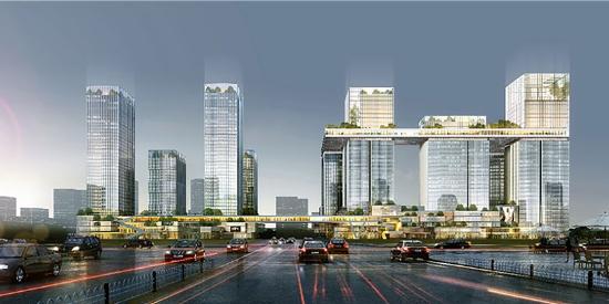寸创想-北京保利大都会办公室:办公室空间也可以引人瞩目
