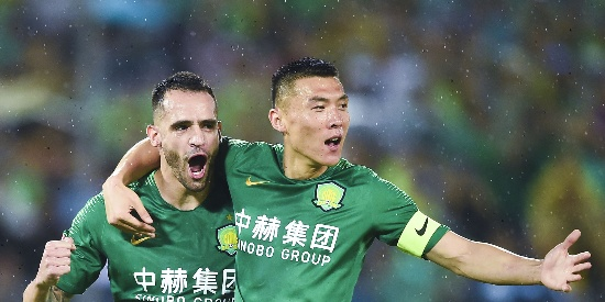 中超-奥古斯托传射 国安3-0返榜首