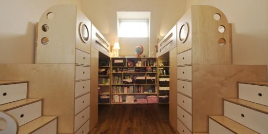 简约时尚一体式儿童床,为宝宝打造舒适的居住环境_图片之家