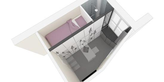 """巴黎推出8平方米""""棺材房"""",所有家具都藏在壁柜里_图片之家"""