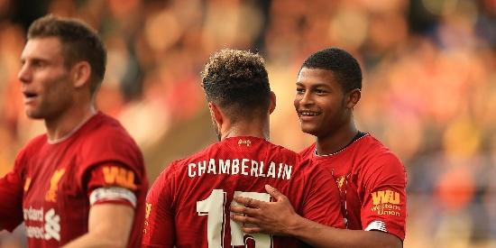 奥里吉进球 19岁小将双响 利物浦6-0胜