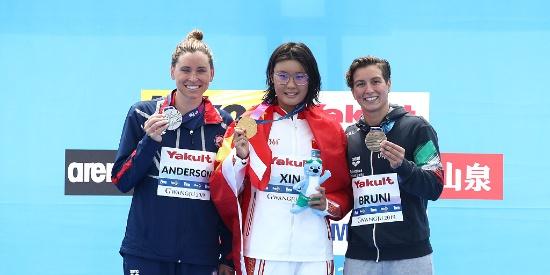 辛鑫公开水域女子10公里夺冠 东奥多1争金点