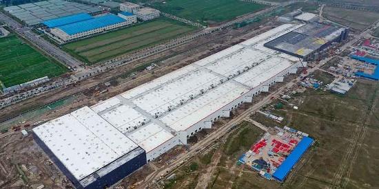 上海特斯拉超级工厂雄姿初现 工厂结构基本完工进入设备安装