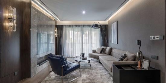 140平米现代风格别墅客厅装修效果图