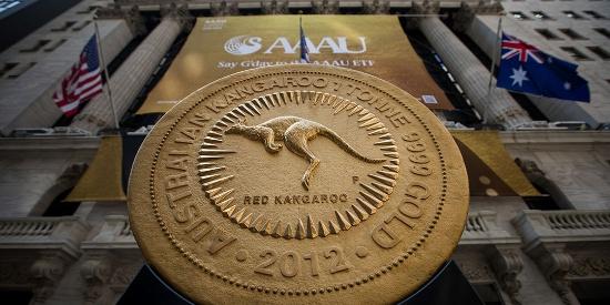 重达1吨世界最大金币在纽交所展出 价值4500万美元