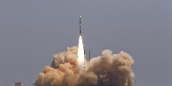 """中国民营运载火箭首次成功入轨 """"双曲线一号""""首飞成功"""