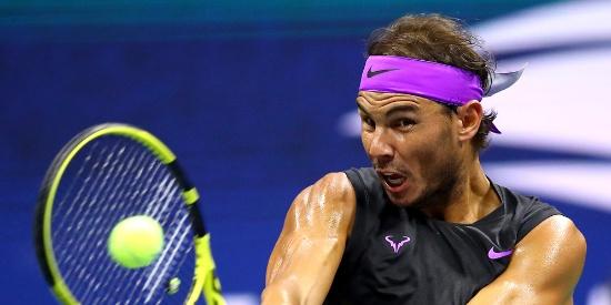[图]纳达尔丢一盘胜西里奇 第9次跻身美网八强