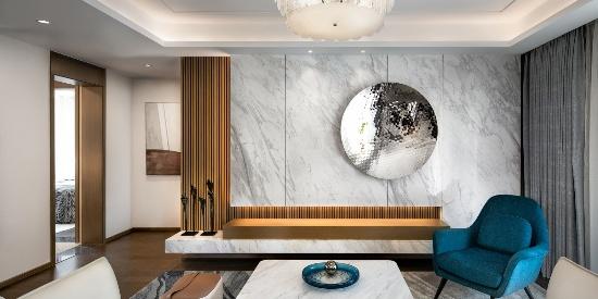 128平山茶白唯美的家   现代简约风格