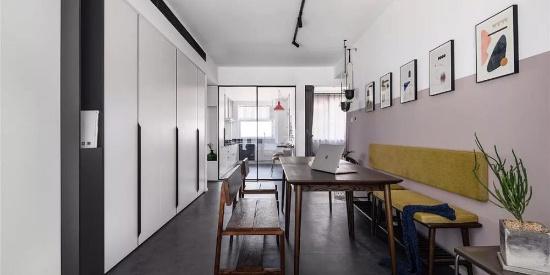 现代简约风格小户型装修,客厅打破常规!