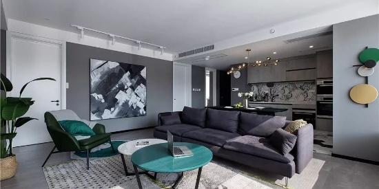 148㎡现代主义3室2厅,高级灰营造轻奢时尚