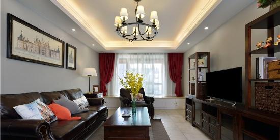 富力桃园美式三居室,独一无二的家居空间