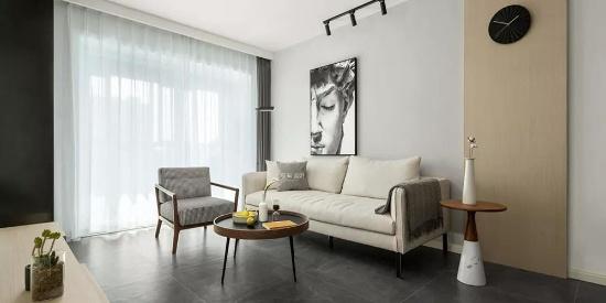 88㎡简约风格三居室装修效果图,现代前卫时尚