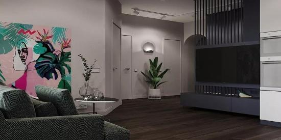 现代轻复古混搭风格公寓装修图片,分区惊艳