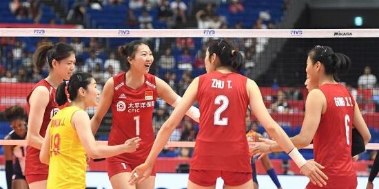 女排世界杯:中国队胜多米尼加队