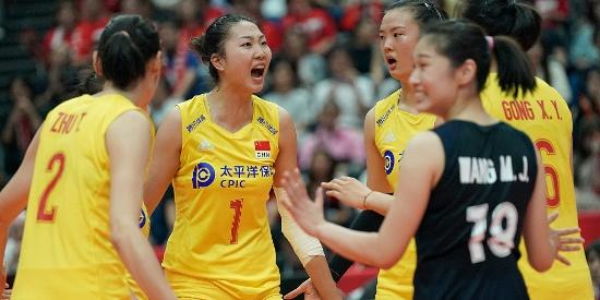 世界杯-中国女排3-0日本5连胜 全场净胜31分