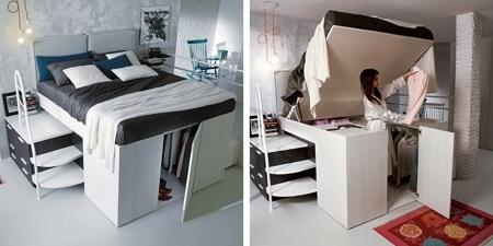超有想法的折叠创意床,既能当床也能变成衣橱-图片之家
