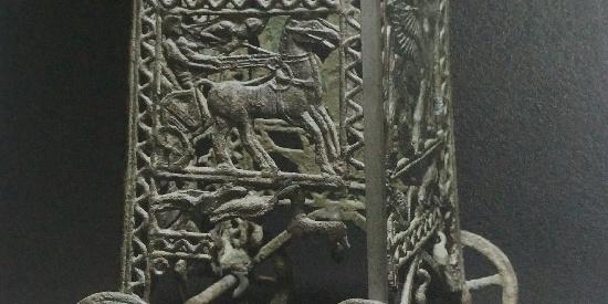历史古希腊文明青铜有轮皿架