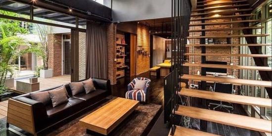 18种奢华的复式Loft装修设计,看过才知道,原来复式还能这